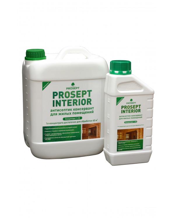 Антисептик для защиты древесины в жилых помещениях PROSEPT INTERIOR (5л)